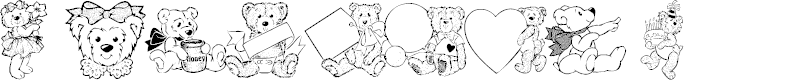 Preview image for Destinys Teddybear Dings Three Font