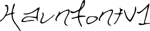 HaunFontV1 font