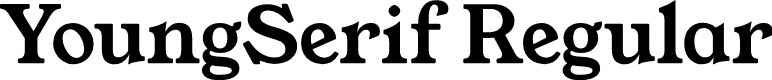 Preview image for YoungSerif Regular Font