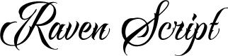 Preview image for RavenScriptDEMO Font