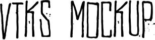 Preview image for Vtks MockUp Font