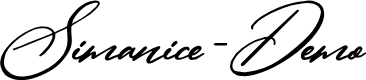Preview image for Simanice-Demo Font
