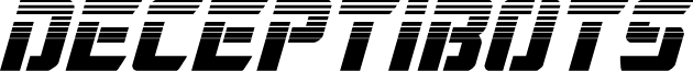 Deceptibots Halftone Italic
