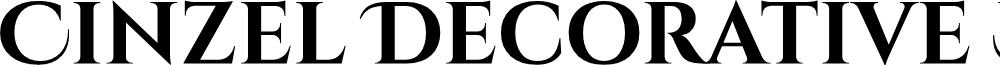 Cinzel Decorative Bold