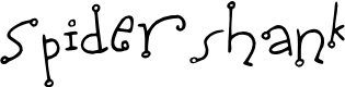 Preview image for Spidershank Font