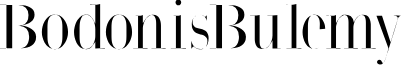 BodonisBulemy font