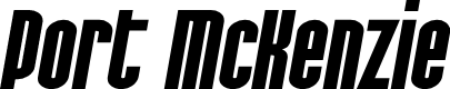 Preview image for SF Port McKenzie Extended Bold Italic