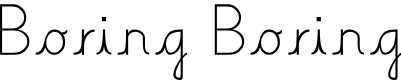 Preview image for Boring Boring Font