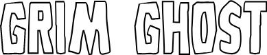 Preview image for Grim Ghost Outline Regular