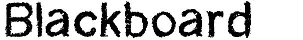 Preview image for CF Blackboard Personal Regular Font