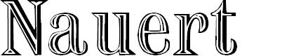 Preview image for Nauert Regular Font