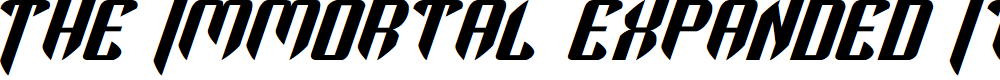Preview image for The Immortal Expanded Italic