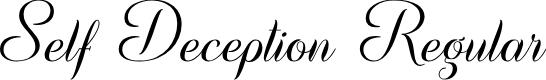 Preview image for Self Deception Regular Font
