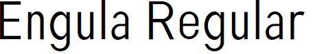 Preview image for Engula Regular Font