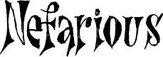 Preview image for Nefarious DEMO Regular Font