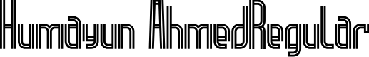 Preview image for Humayun Ahmed-Regular Font