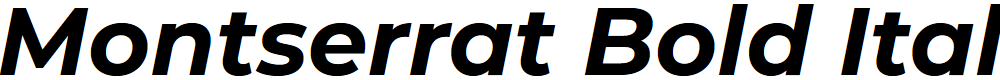 Preview image for Montserrat Bold Italic