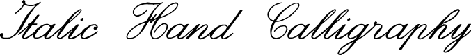 Preview image for zai Italic Hand Calligraphy Font