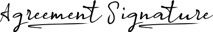 Agreement_Signature_ font