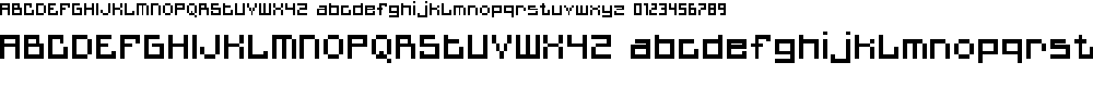 Preview image for MiniQuan Font