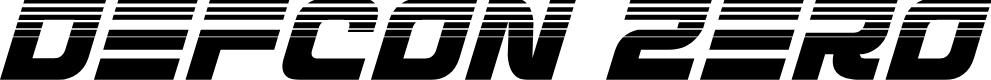 Preview image for Defcon Zero Halftone Italic