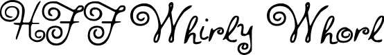 Preview image for HFF Whirly Whorl Font