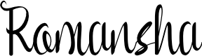 Preview image for Romansha Font