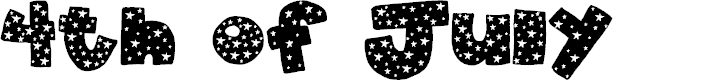 Preview image for 2Peas 4th of July Font