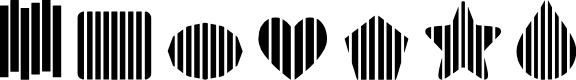 Preview image for 7 Dingbat Slats LT Font