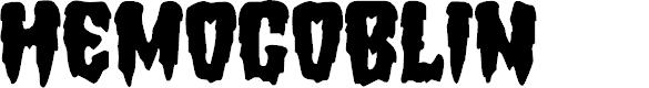 Preview image for Hemogoblin Font
