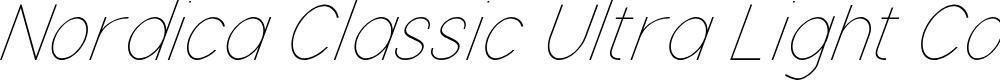 Preview image for Nordica Classic Ultra Light Condensed Oblique