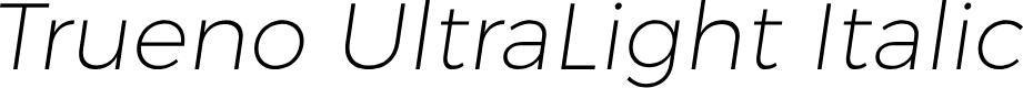 Preview image for Trueno UltraLight Italic