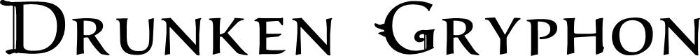 Preview image for Drunken Gryphon Font