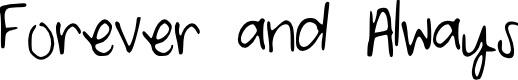 Preview image for ForeverandAlways Font