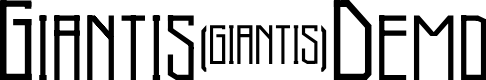 Preview image for Giantis-Demo Font