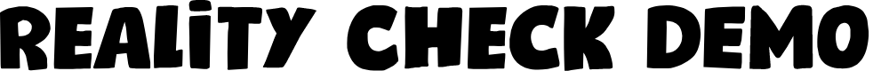 Preview image for Reality Check DEMO Regular Font