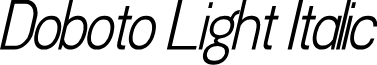 Doboto Light Italic
