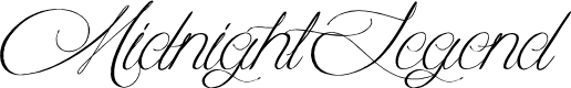 Preview image for MidnightLegend Font