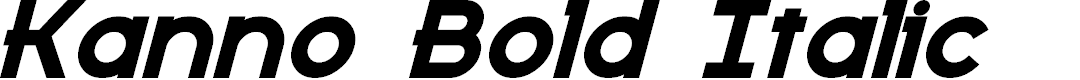 Preview image for Kanno Bold Italic