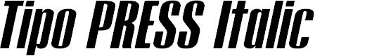 Preview image for Tipo PRESS Italic