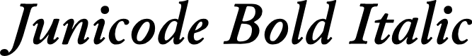 Preview image for Junicode Bold Italic