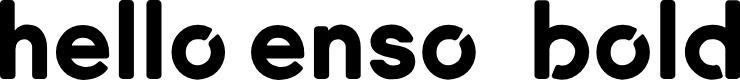 Preview image for Enso Bold Font