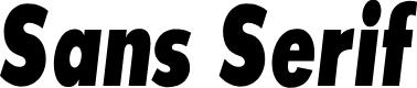 Preview image for SansSerifExbFLFCond-Italic