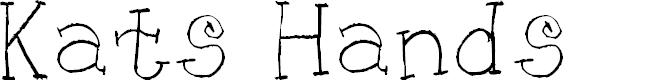 Preview image for KG KAT'S HANDS Font