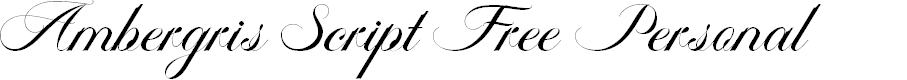 Preview image for Ambergris Script Free Personal