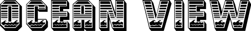 Ocean View Initials