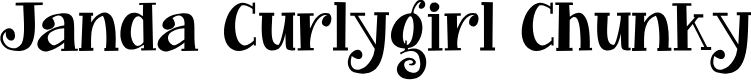 Preview image for Janda Curlygirl Chunky Font
