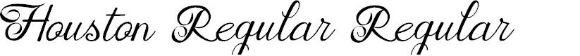 Preview image for Houston Regular Regular Font