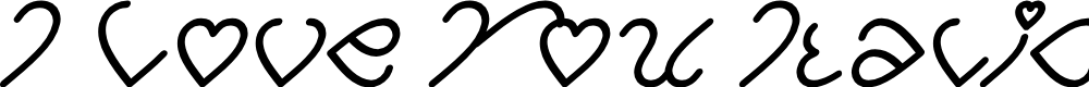 Preview image for I Love You Italic