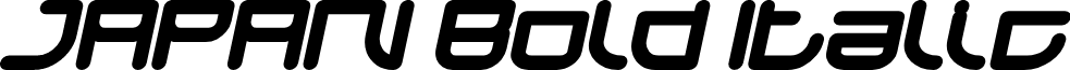 JAPAN Bold Italic